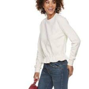Women's POPSUGAR Peplum-Hem Sweatshirt